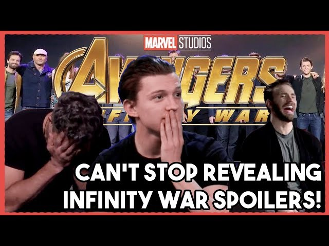 AVENGERS Cast Cant Stop their SPOILERS! |  INFINITY WAR 2018