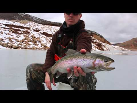 Ice fishing at East Canyon 2015