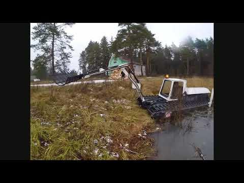 """Амфибия,земснаряд, экскаватор """"Боцман М"""" новая модель Floating amphibious swamp excavator dredger"""