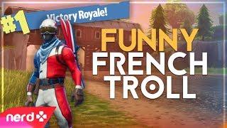 Fortnite Trolling | Trolling A Hilarious French Guy! | #NerdOut (Fortnite Battle Royale)