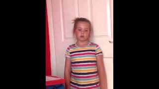 Little girl sings read all about it