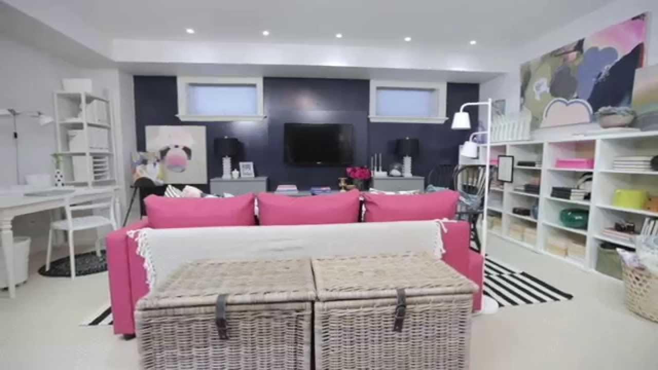 Interior decorating before and after photos - Interior Design Before After Ikea Decorated Family Basement Youtube