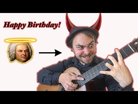 """""""Happy Birthday"""" in 10 Styles BACH to BLACK METAL"""