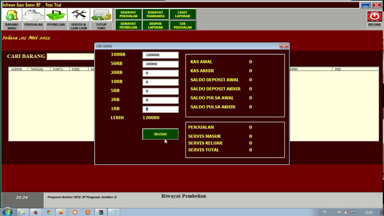Tutorial Instal Software Kasir Konter Hp By Jp Program Jember