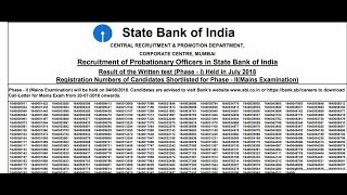 SBI PO RESULT 2018 OUT  - CHECK YOUR NAME