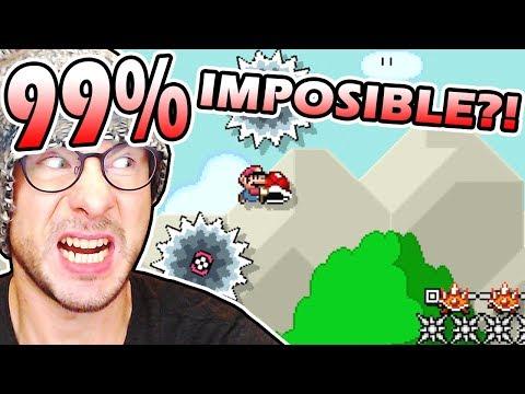 99% IMPOSIBLE#1 by ZetaSSJ (0.17% Completion Rate) ~ Super Mario Maker