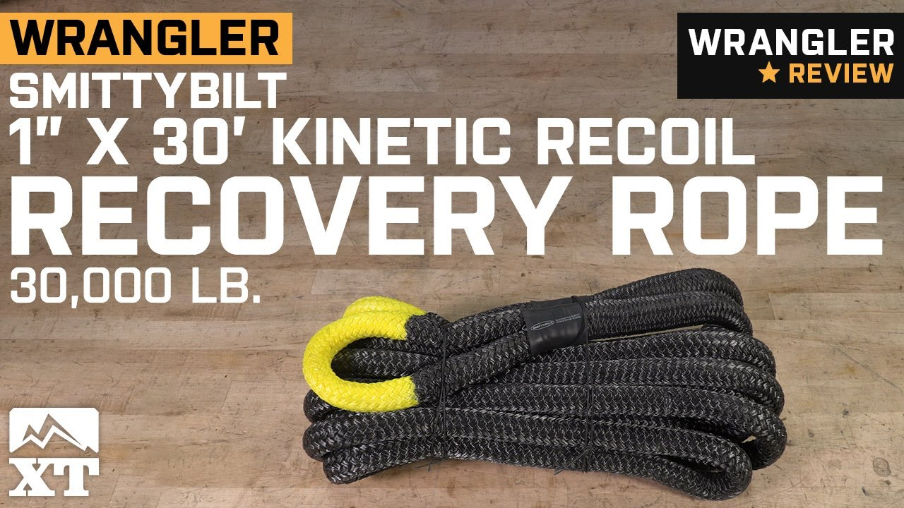 x 30 ft Recoil Recovery Rope Smittybilt CC121 1 in