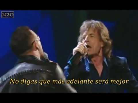 U2 & Mick Jagger - Stuck In A Moment You Can't Get Out Of (subtitulos español)