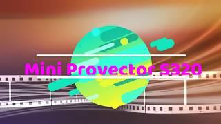 MINI VIDEO PROYECTOR S320 1800 LUMENES