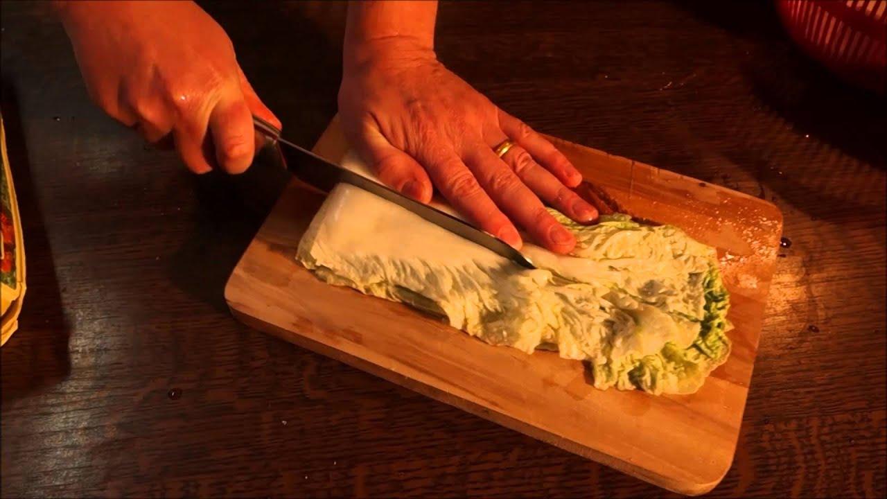 Recette traditionnelle du kimchi cor en au choux chinois - Cuisiner du choux chinois ...