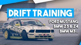 Training Drift Compilation | Ford Mustang, BMW M3, Z3 & Z4... | Noeux-les-mines thumbnail