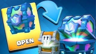 OPEN LEGENDARY CHEST + GIANT CHEST ARENA 11 ! CLASH ROYALE ( INDONESIA )