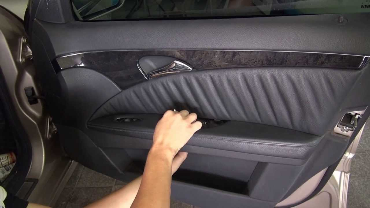как разобрать дверь водителя на мерседесе gl 320