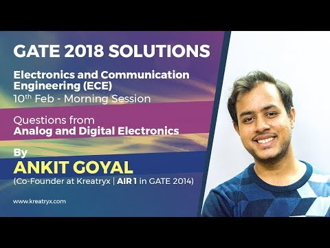 Kreatryx GATE 2018 ECE Solutions | Analog and Digital Electronics