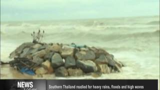 Southern Thailand readied for heavy rains, floods and high waves