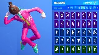 HOPPER CHOCOLATE EASTER EGG HEAD SKIN SHOWCASE WITH ALL FORTNITE DANCES & EMOTES