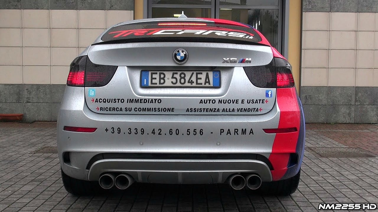 Bmw X6m Bi Turbo With Custom Exhaust Revving Youtube