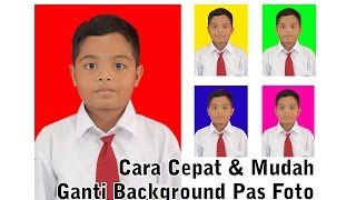 Cara Mudah Ganti Background Pas Foto dengan Photoshop - Tutorial Photoshop