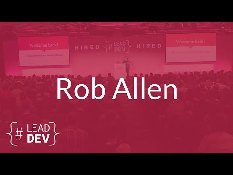5 Features of a Good API – Rob Allen | The Lead Developer UK 2017