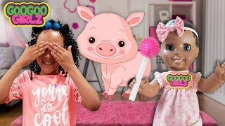 Interactive Toy Plays Hide and Seek! (Counting Animals with Goo Goo Girlz)