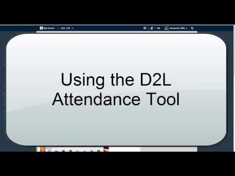 Attendance Tool (D2L 10.3)