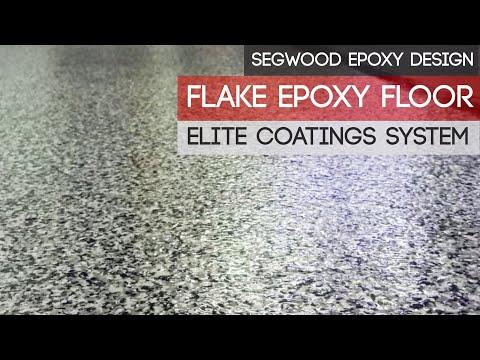 Epoxy flake floor - ELITE Coating system.
