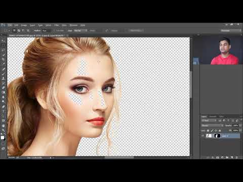 How to Cut Out Hair in Photoshop Tutorial   in Hindi thumbnail
