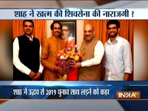 BJP chief Amit Shah meets Shiv Sena supremo Uddhav Thackeray in run up to 2019 LS polls