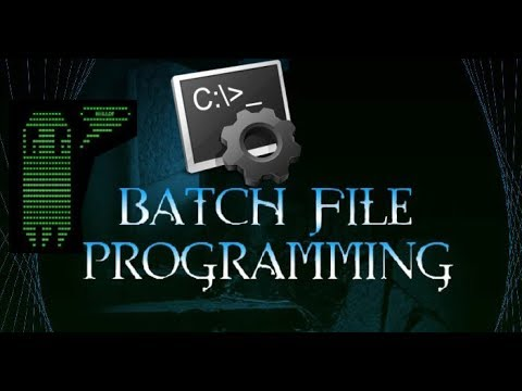 Learn batch file programming tutorial 2 youtube.