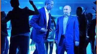 Прикол! Обама танцует с Путиным и Меркель / Funny! Obama dancing with Putin and Merkel