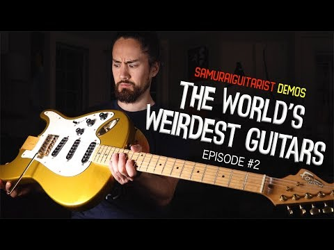 Famous Riffs Played Backwards On A Backwards Guitar