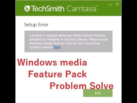 Camtasia Studio Windows Media Feature Pack Problem Solve