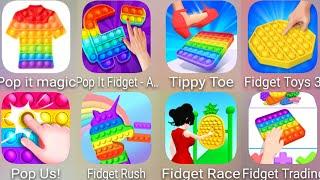 Pop It Magic,Fidget Toys 3D,Tippy Toe,Pop It Fidget,Pop Us,Fidget Rush,Fidget Race,Fidget Trading 3D screenshot 1