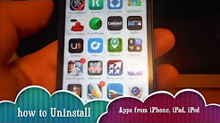 How to Uninstall apps in iPhone 5S iPhone 5C iPhone 5 iPhone 4S iPhone 4 iPhone 3GS iPad iPod