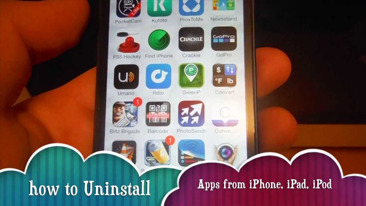 how to uninstall an app on iphone how to uninstall apps in iphone 5s iphone 5c iphone 5 5289