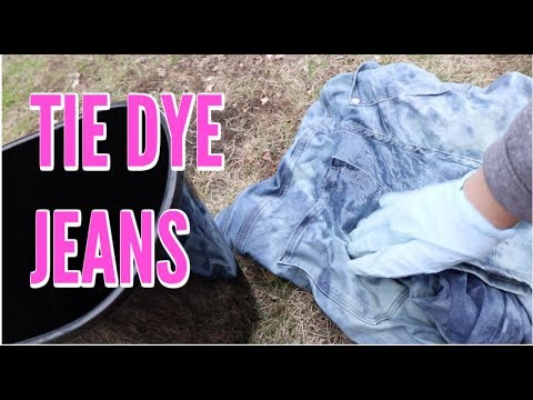 DIY TIE DYE JEANS PROJECT  AND WALK