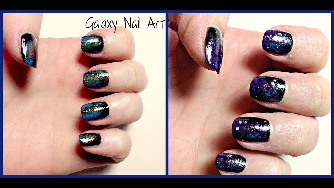 DIY Galaxy Nagel Art - YouTube
