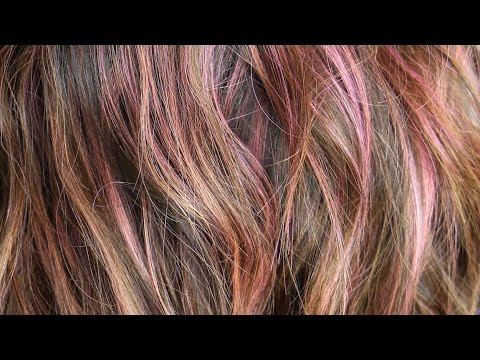 Rose Gold Sombre Pink Highlights Hair Color Tutorial Daniella
