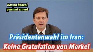 Nach Präsidentenwahl im Iran: Keine Gratulation von Merkel