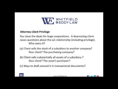 Ethics for Corporate Counsel - Erik Fisk