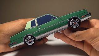 JCARWIL PAPERCRAFT 1981 Pontiac Grand Prix  (Building Paper Model Car)