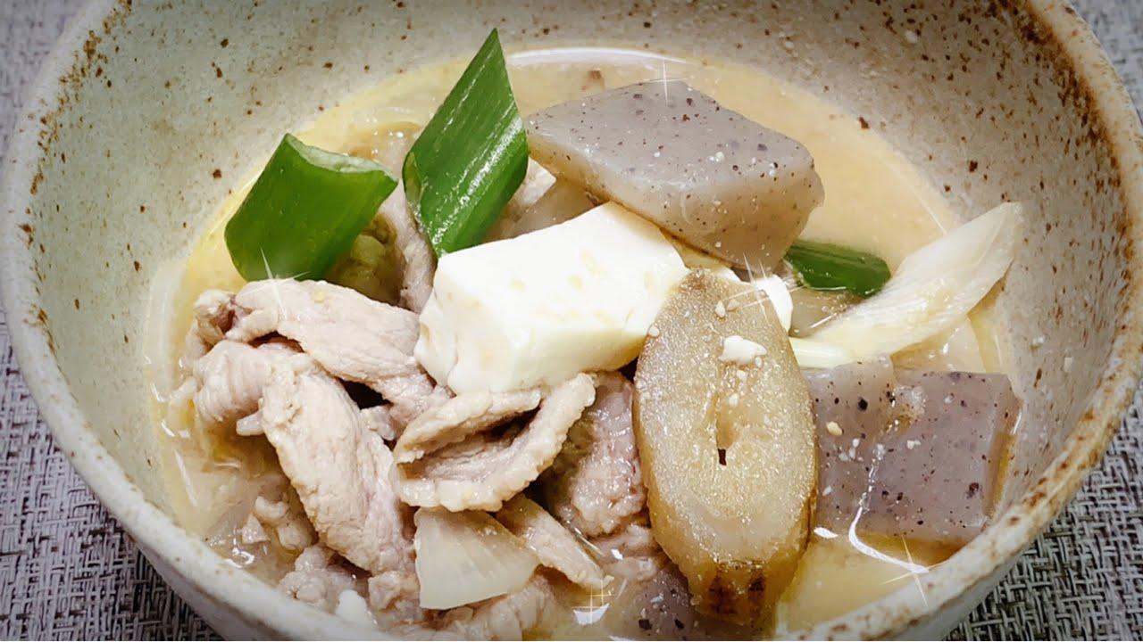 Receta Japonesa TONJIRU o sopa de miso con carne de cerdo