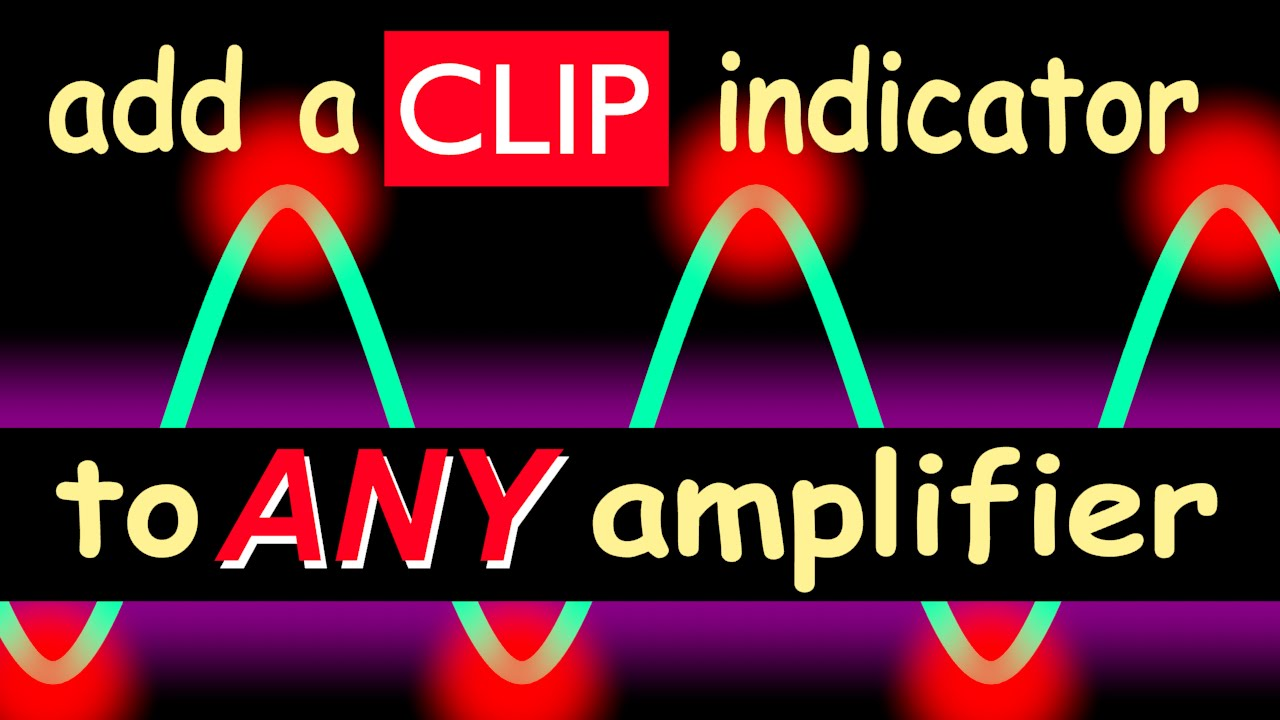 power amplifier circuit clip indicator circuit for any power amplifier youtube #1