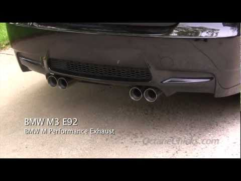 BMW M Performance Exhaust  vs. stock OEM exhaust on 2011 E92 M3