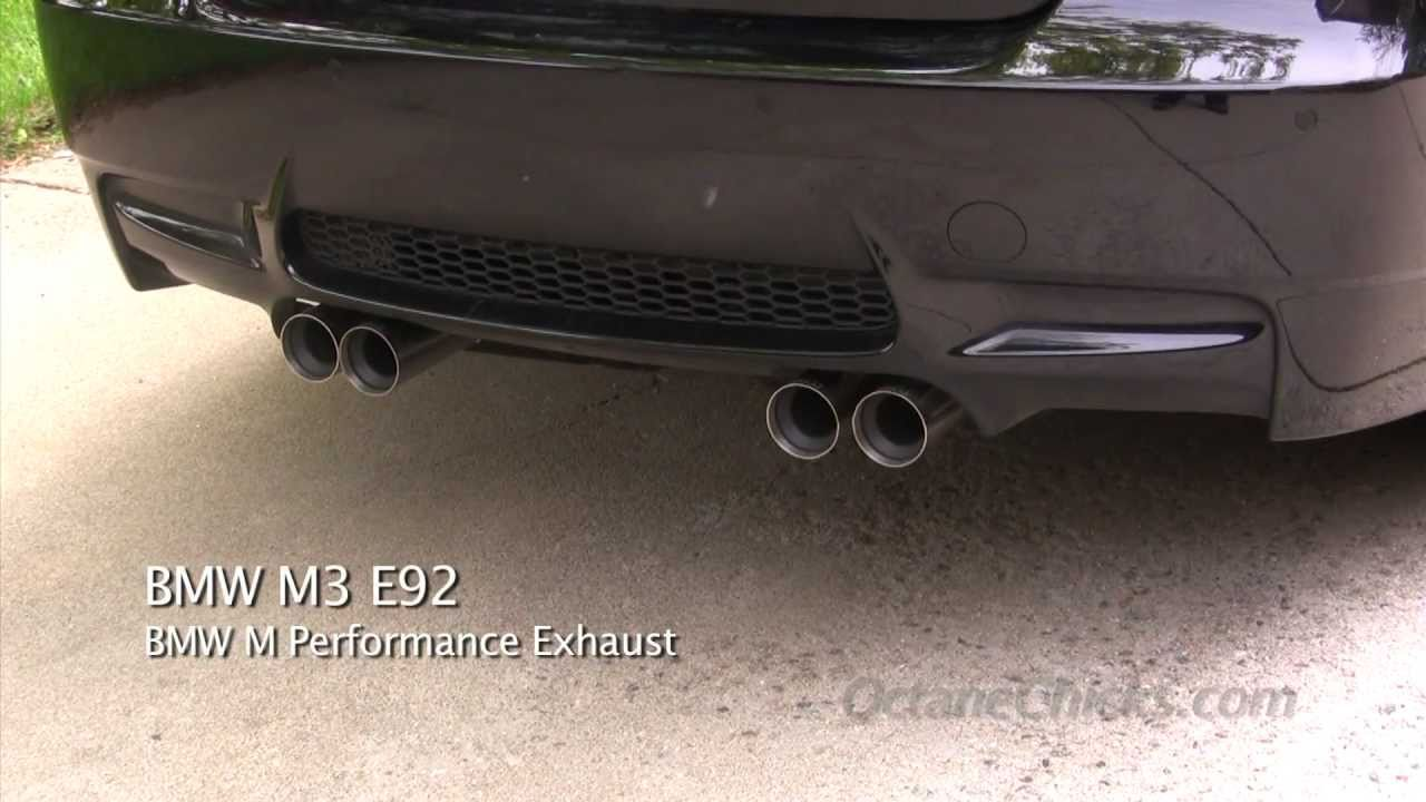 bmw m performance exhaust vs stock oem exhaust on 2011. Black Bedroom Furniture Sets. Home Design Ideas