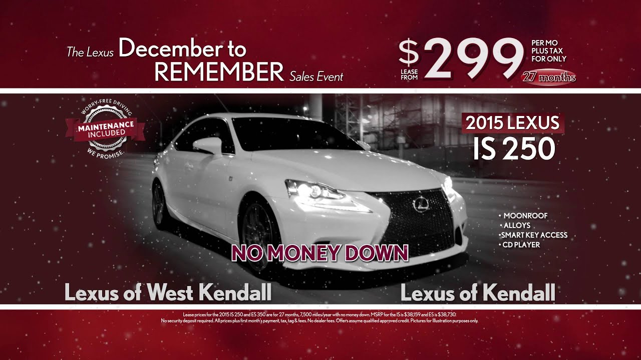 December to Remember IS ES Lexus Kendall West Kendall