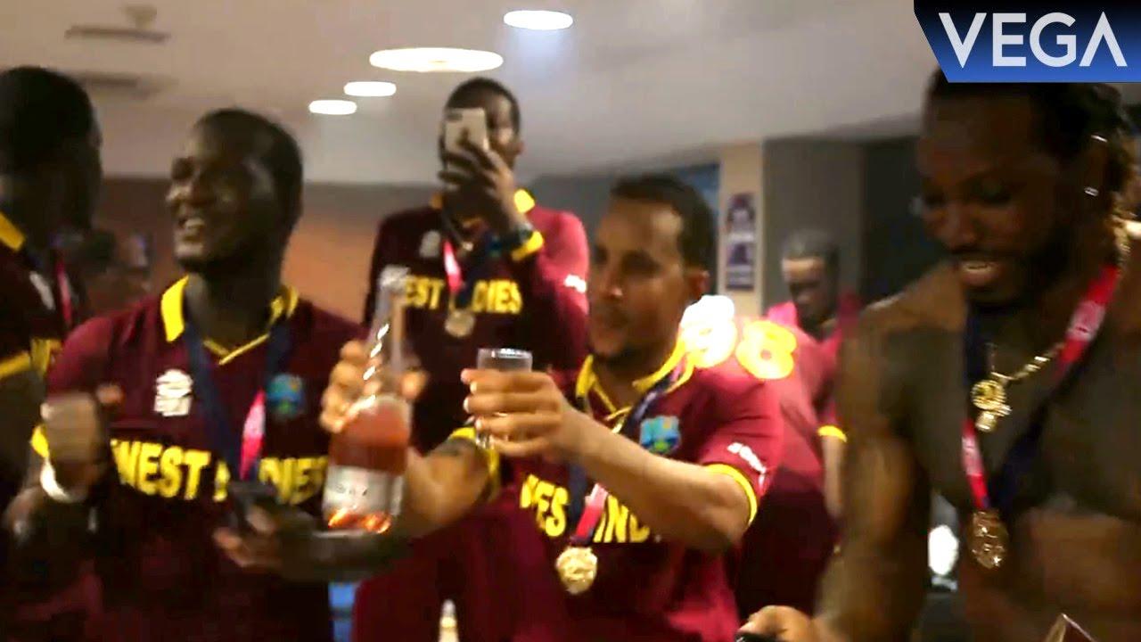 Chris Gayle Darren Sammy Bravo West Indies Team Player Dancing On Champion Song