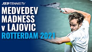 Daniil Medvedev Madness in Defeat to Lajovic 😬 | Rotterdam 2021