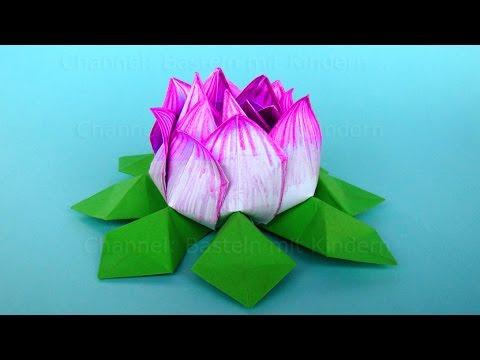 Blumen Basteln Mit Kindern Einfache Blüte Basteln Mit Papier Diy Geschenk Basteln
