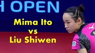 Swedish Open 2018   Mima Ito vs Liu Shiwen【Best Selections】
